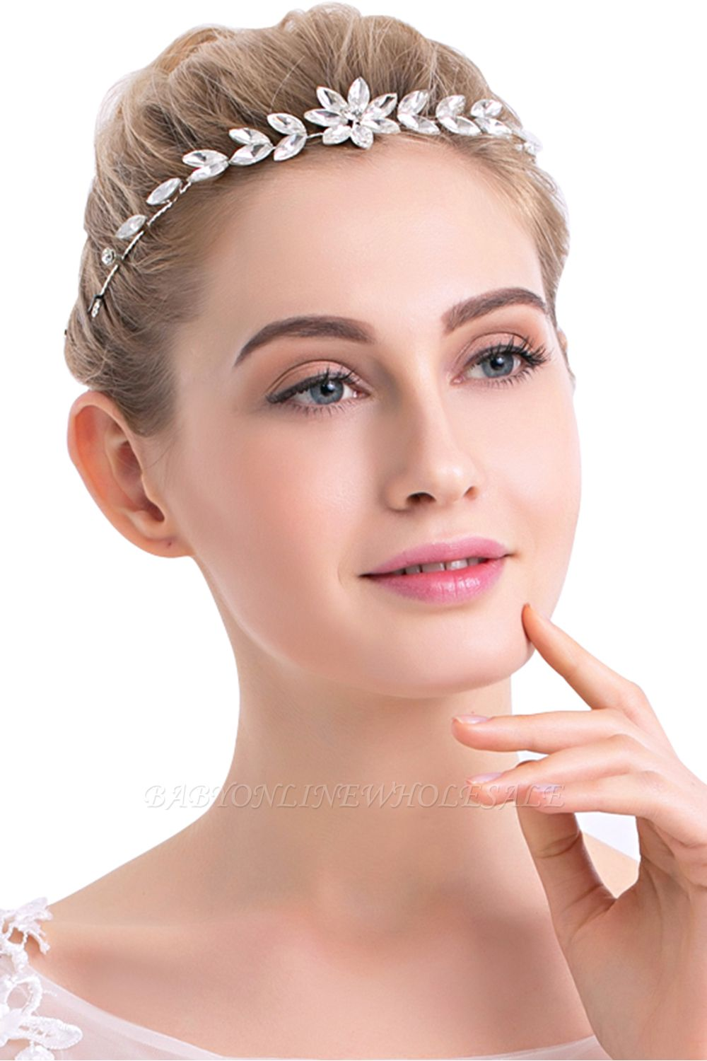 Flower Alloy&Rhinestone Special Occasion Hairpins Headpiece with Crystal