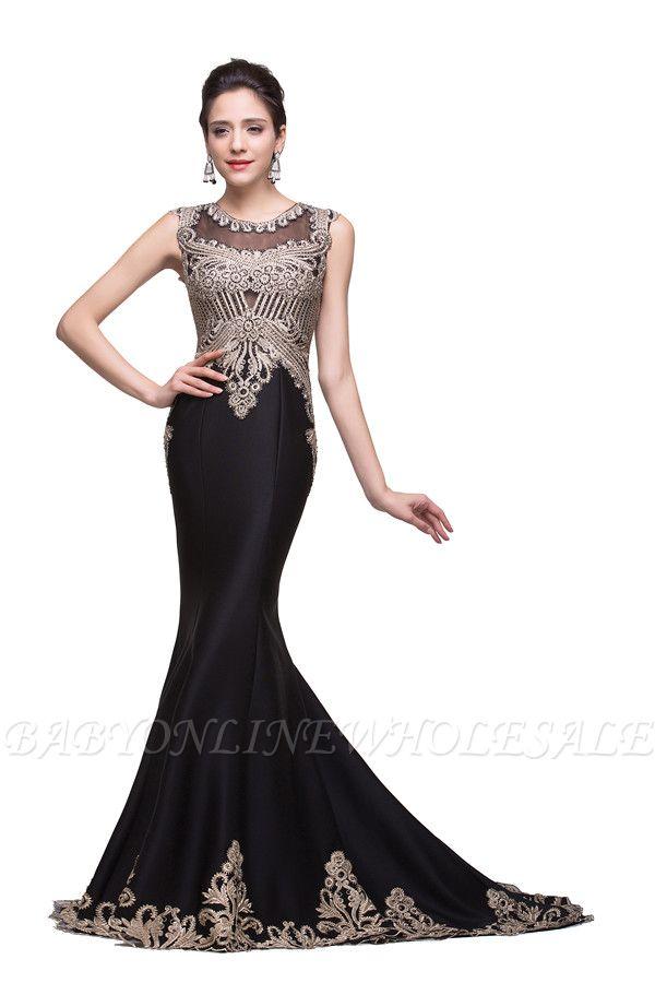 Elegante Schwarze Abendkleider Lang Günstig | Abendmoden Online Kaufen