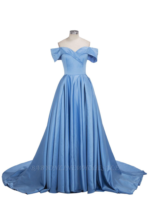 TORRIE   Robe de bal épaule-épaule rez-de-longueur bleu robes de bal