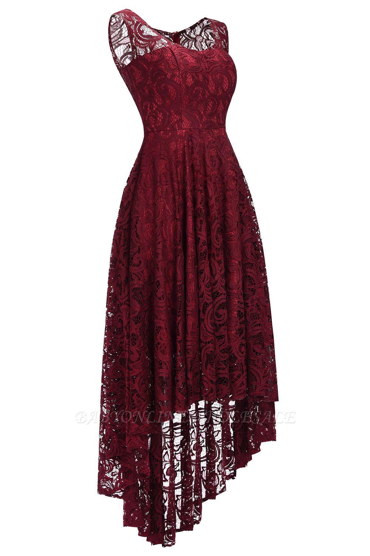 schlichte spitze abendkleider günstig | schöne kleider vorne kurz hinten  lang