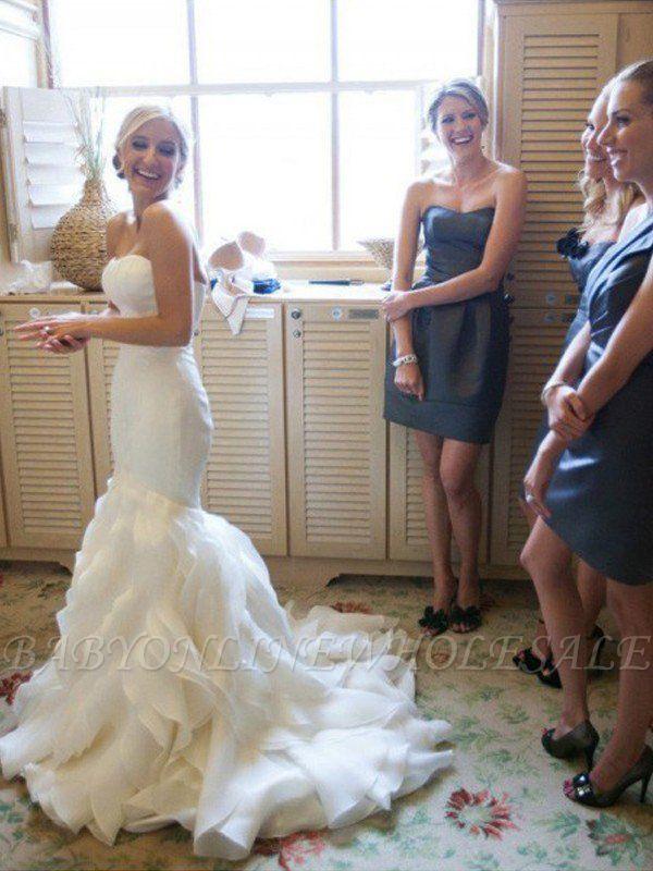 Elegante Brautkleider Meerjungfrau Lang | Schöne Abendmode Schulterfrei