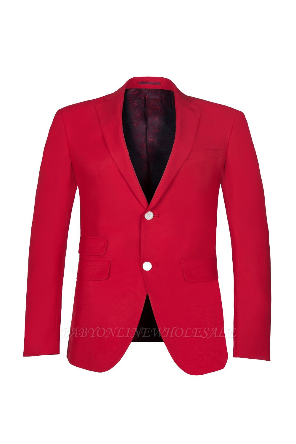 Настроить Red Two Button High Quality Back Vent Wedding Suit