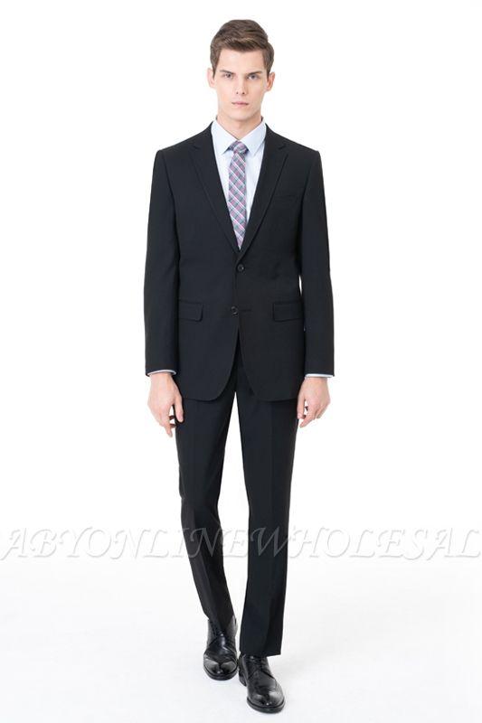 Slim Fit Peak revers costume deux pièces costumes à deux boutons occasionnels
