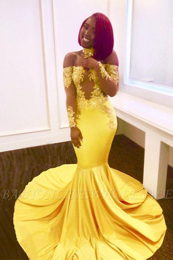 Платье выпускного вечера с открытыми плечами, длинные вечерние платья русалки BA7903