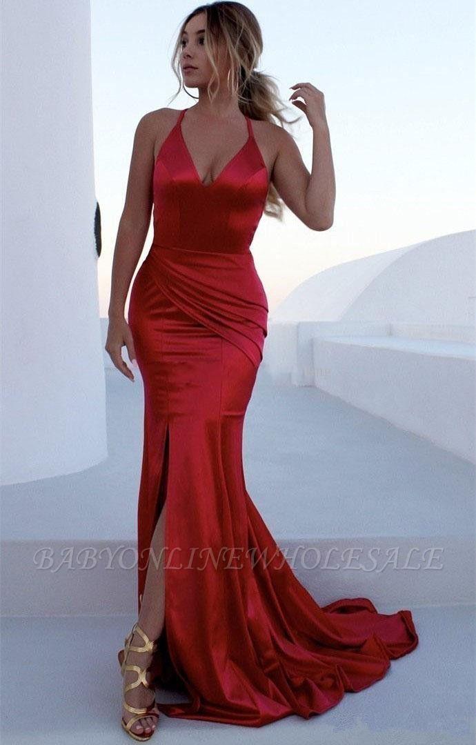 Abendkleid Lang Rot Günstig | Abendkleider Lang Schlicht
