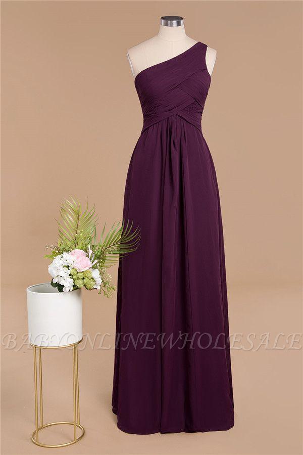 Элегантные платья для выпускного с оборками на одно плечо | A-Line Вечерние платья без рукавов