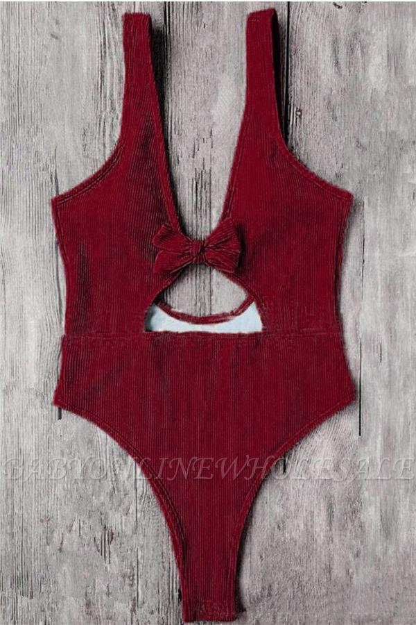 Schlichte einteilige Badebekleidung | Himmelblau Bikini Online