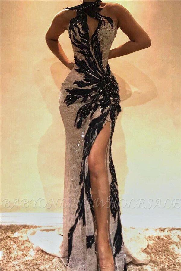 Sexy encaje rebordear sirena vestidos de baile