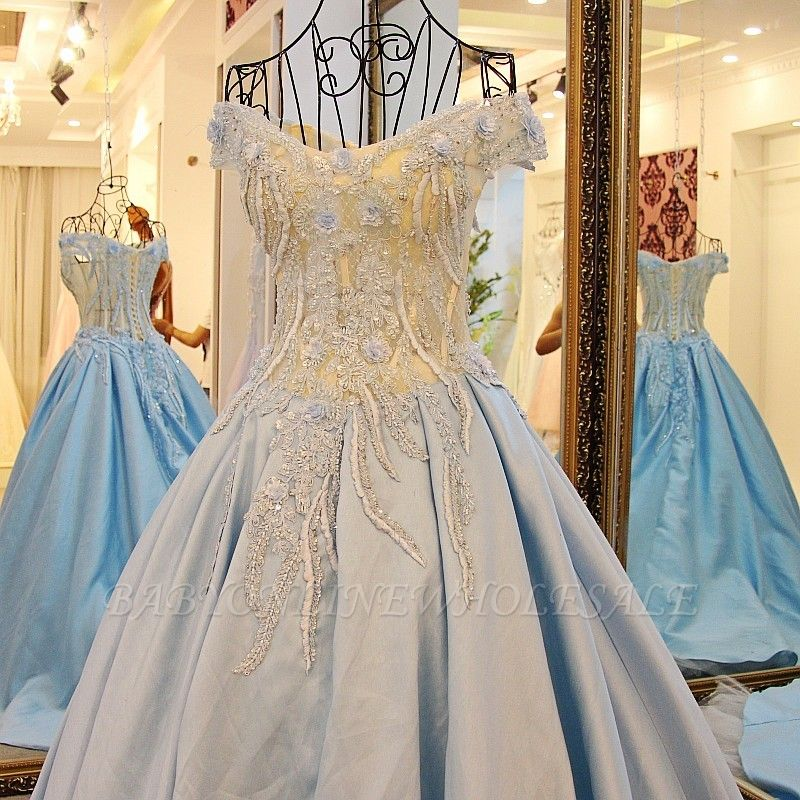 Exquisite Sweetheart Sleeveless Appliques Sweep Train Quinceanera Dresses