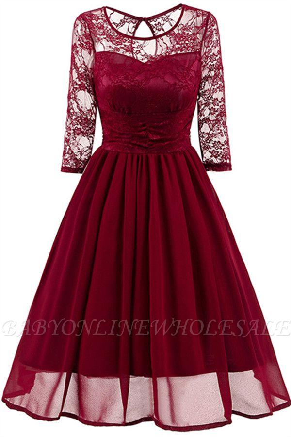 Elegant Womans Chiffon Lace Dress Brand Ladies Girl Prom Dresses