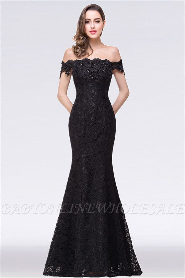 EMMALYNN   Mermaid Off Shoulder  Floor-Length Lace Bridesmaid Dresses