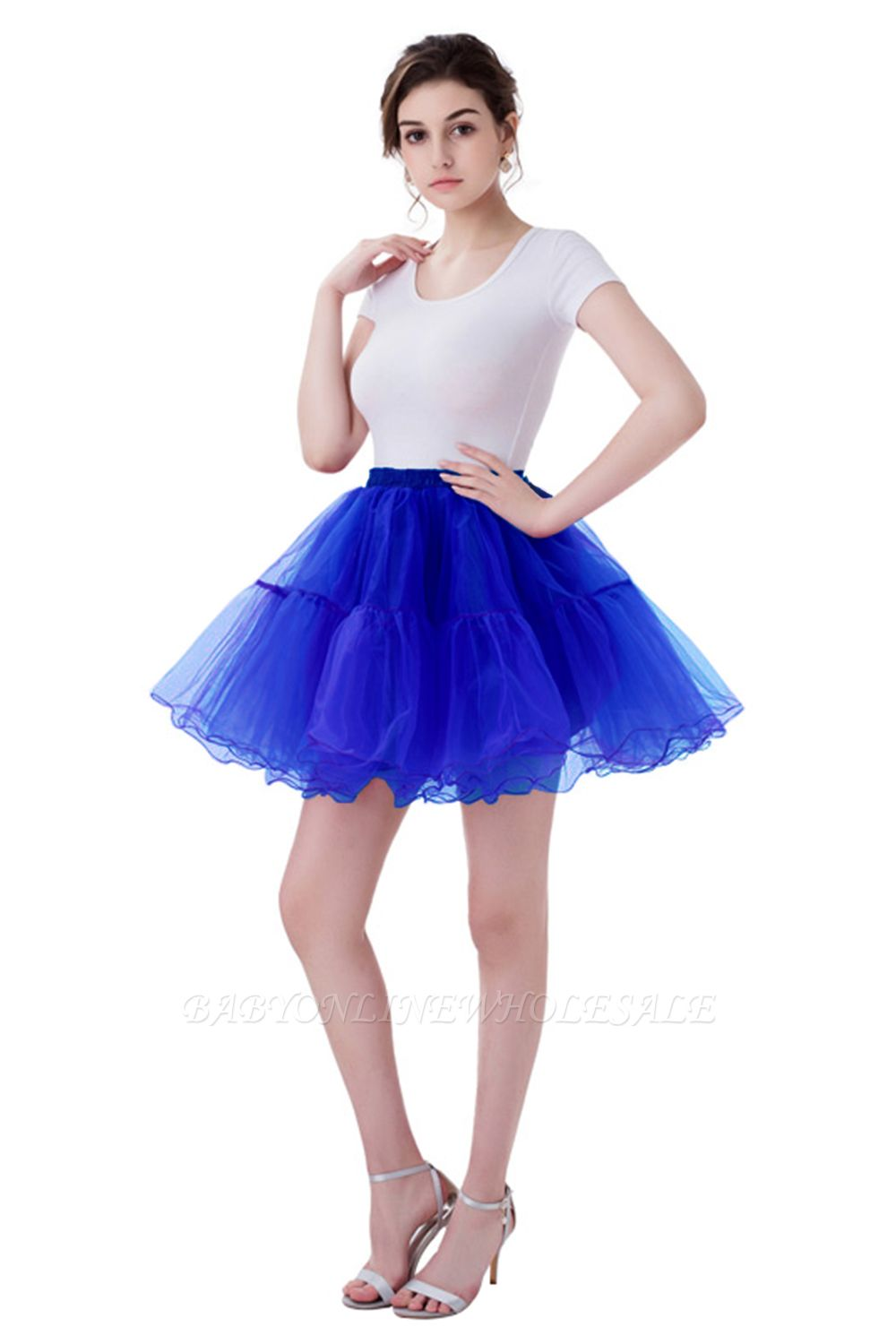 Brilliant Tulle Mini Short A-line Skirts | Elastic Women's Skirts