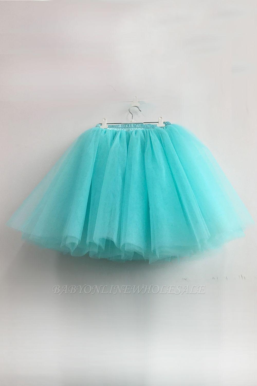 Amazing Tulle Short Mini Ball-Gown Skirts | Elastic Women's Skirts