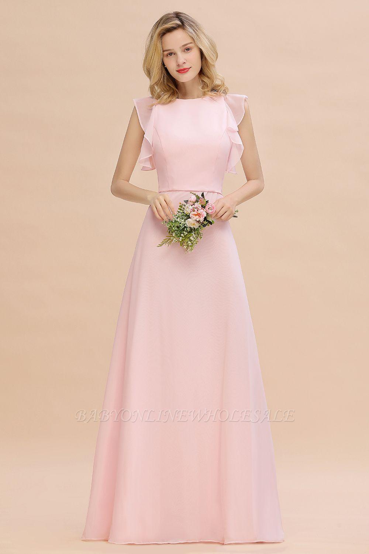 Einfache Brautjungfer Kleider Chiffon | Schlichte Brautjungfer Kleider A-Linie
