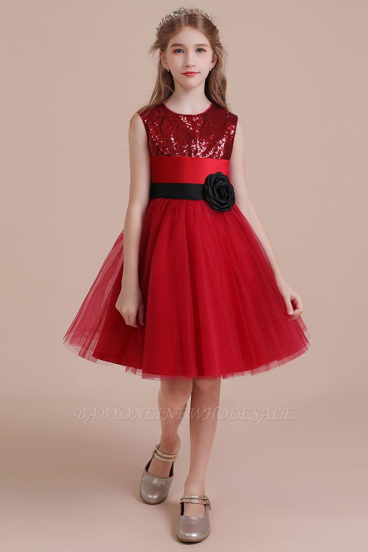 Fabulous Tulle A-line Flower Girl Dress |Graceful Sequins  Little Girls Dress for Wedding