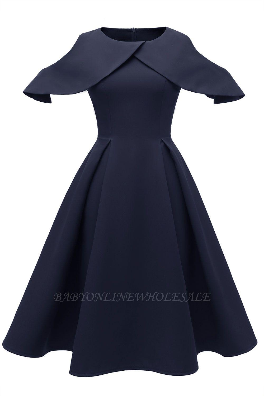 Elegantes U-Ausschnitt Halbarm 17er Jahre Kleid  Vintage Rockabilly Kleid  Günstig