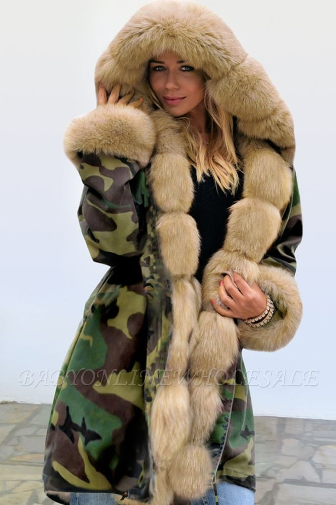 Electric Army Green Faux Fur Chubby Jacket | Superstar Faux Fur Coat in Burgundy/Black/Gray Shawl Collar