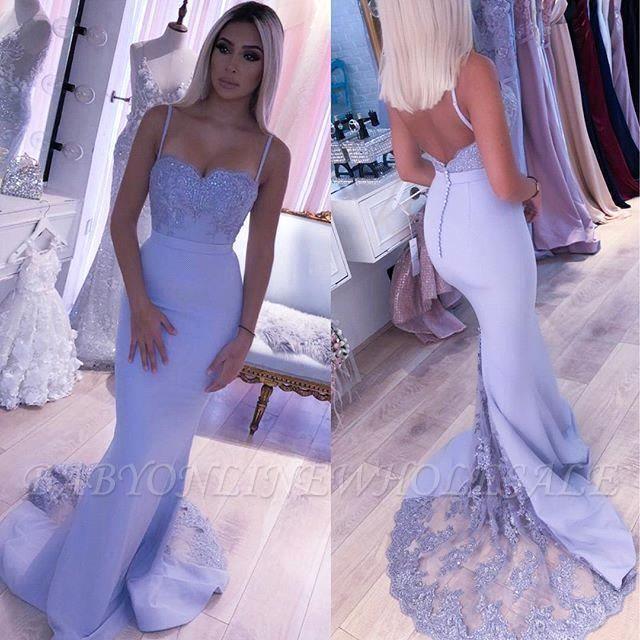 Cady   Spaghetti Strap Sweetheart Sirène Robe de bal, robe de soirée ajustement sexy avec ceinture