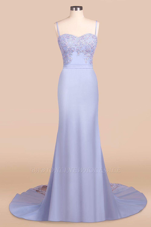 Cady | Spaghettibügel-Schatz-Nixe-Abschlussball-Kleid, reizvolles passendes Abendkleid mit Gürtel