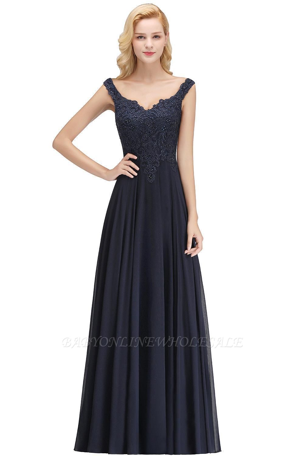 Elegant Off the shoulder Navy Long evening Dress with Soft Pleats evening dresses under $50