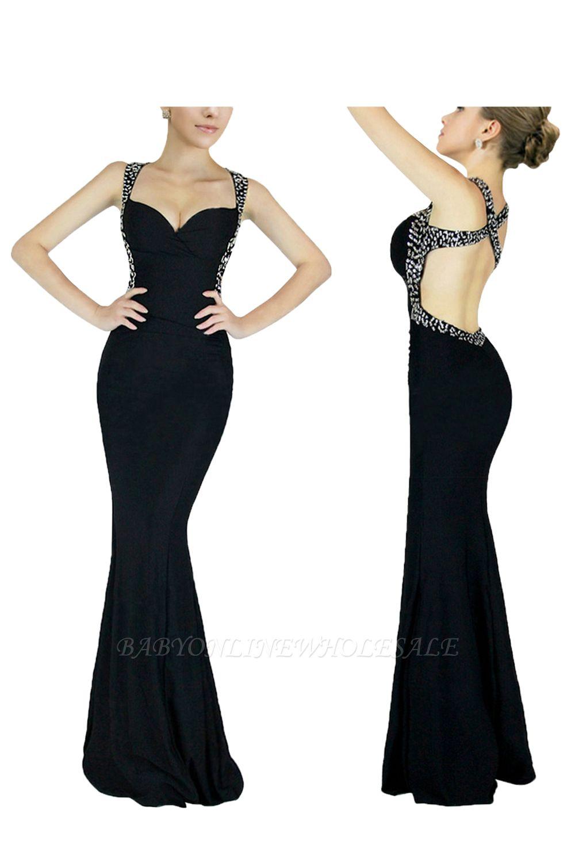 Ceci   Платье для выпускного вечера с перекрестной спиной и бусинами