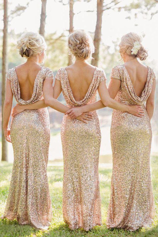ESPERANZA | Mermaid Sleeveless Floor-Length Scoop Sequins Prom Dresses