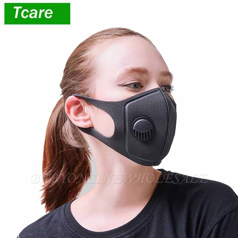 10*PCS Reused Face Masks Anti-Dust Indoor Adjustable & Reusable Protection 2 PM2.5 Filters Mouth Mask for Women Man