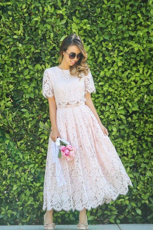 Manches courtes Princesse Longueur cheville Robes de bal d'été