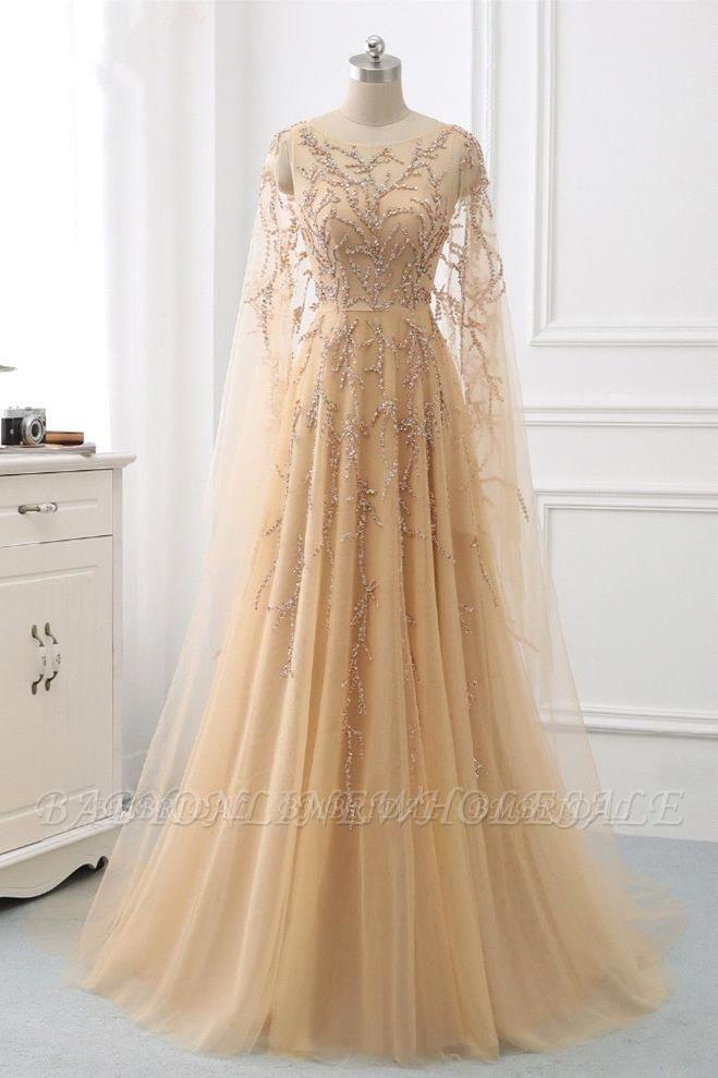 Элегантные платья выпускного вечера с длинными рукавами и оборками с жемчугом и бисером онлайн