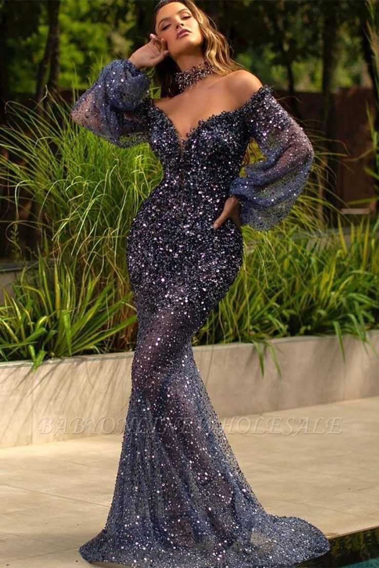 Sexy-Off-Shoulder-Mermaid-Sequins-Prom-Dress-Slim-Evenign-maxi-Dress
