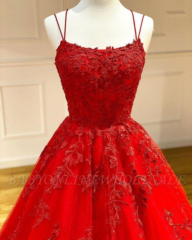 Vestido de noite Aline com alças de espaguete floral vestido de noite vestido de baile sem mangas