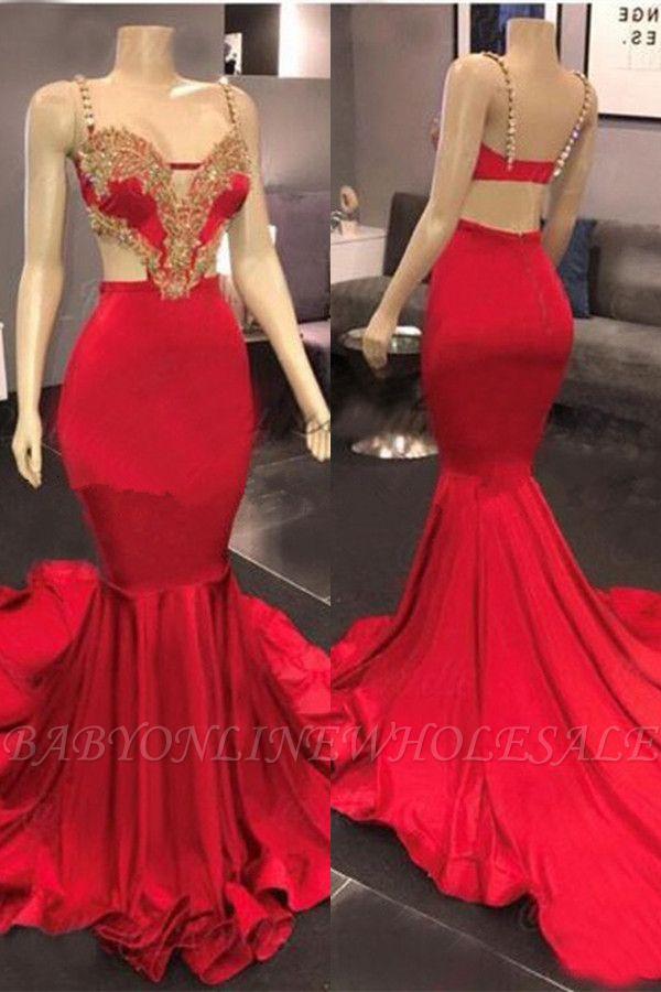 Encantador vestido de noche de fiesta de sirena cariño