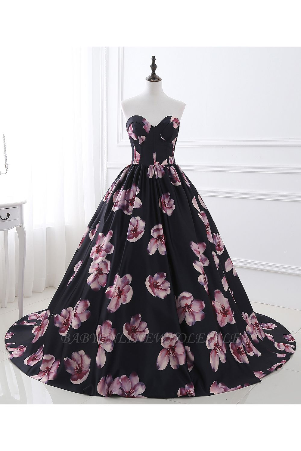 ALESSANDRA   A Line Sweetheart Long Evening Dresses With Print