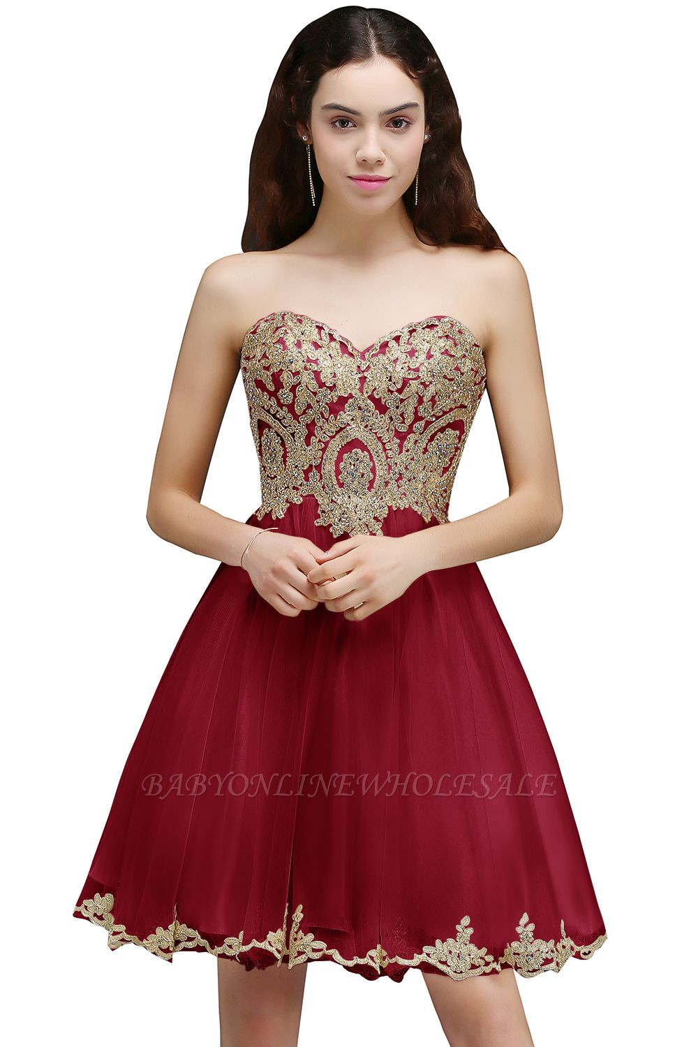 ANIYA | A-line Short Cute Homecoming Dress With Applliques