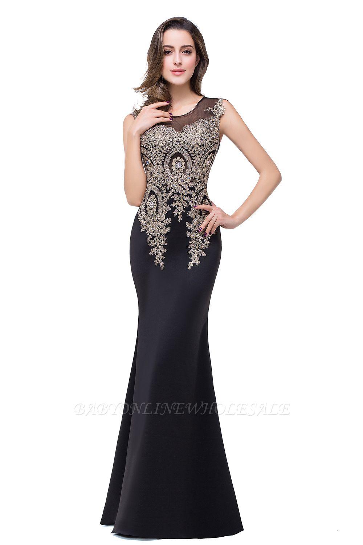 ADDISYN | Mermaid Floor-length Chiffon Evening Dress with Appliques