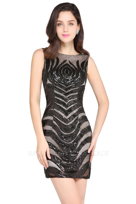 AMALIA | Hülle kurze schwarze sexy Cocktailkleider