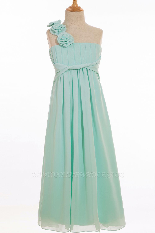 Einfache A-Linie Chiffon Brautjungfernkleider Lang | Brautjungfer Kleid Eine Schulter