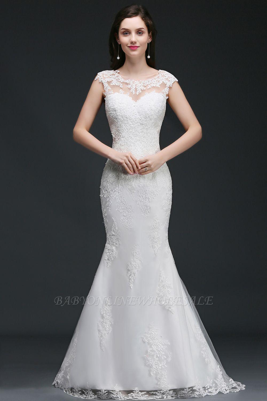 ANNALEE Mermaid Sweep Zug Elegantes Hochzeitskleid mit Spitze