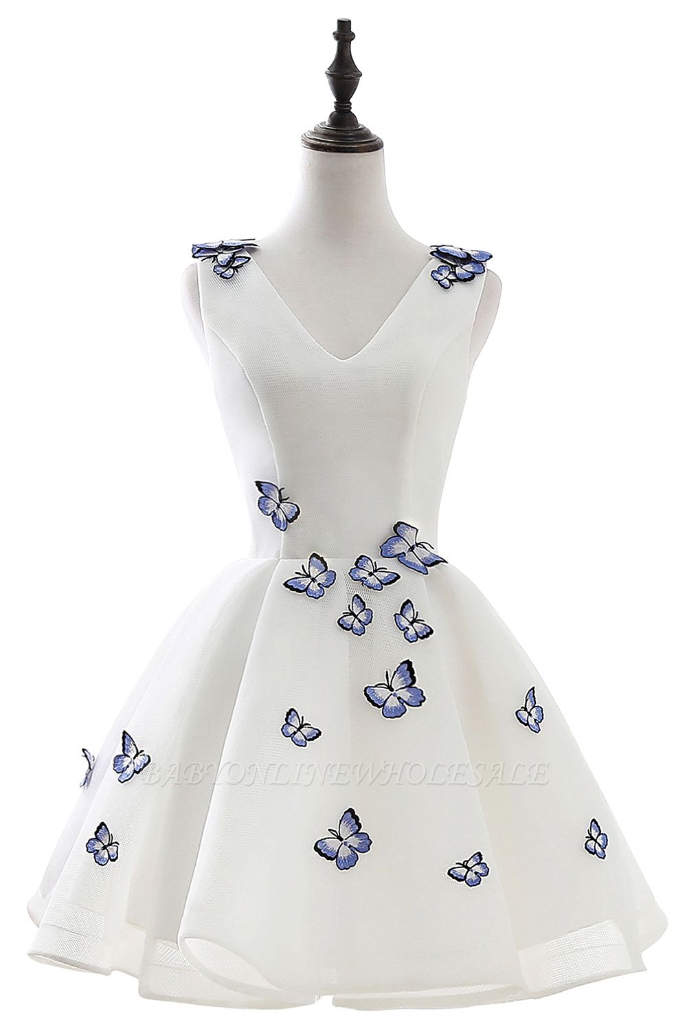 ANGEL | A-line Cute Homecoming Dress With Butterfly