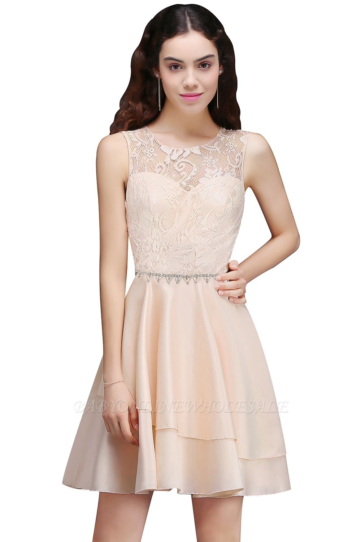 Sexy Rosa Cocktailkleider Mini   Schöne Kleider Online Kaufen
