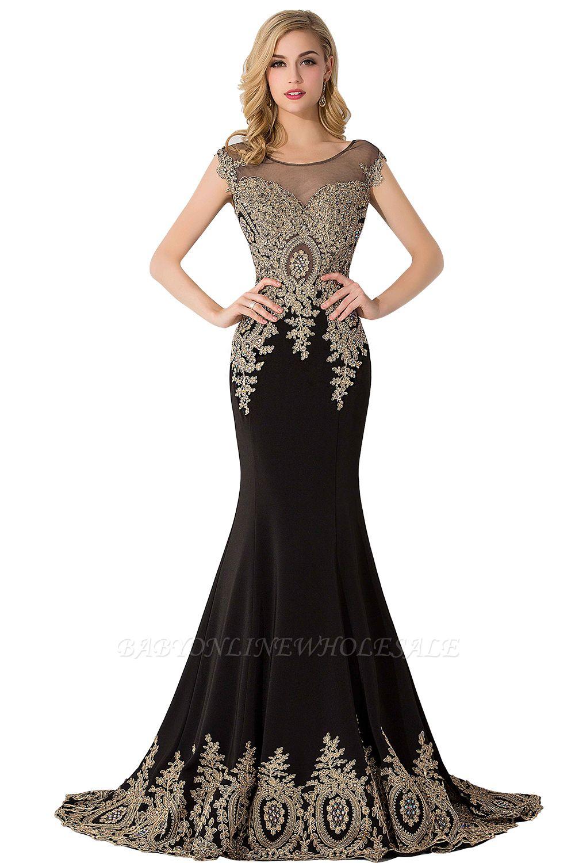 ABIGAIL   Mermaid Court Train Chiffon Evening Dress with Appliques