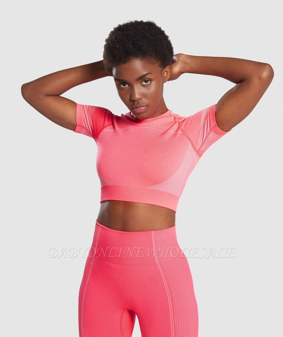 Women's Workout Outfit 2 Pieces Seamless Yoga Leggings with Sports Bra Gym Clothes Set