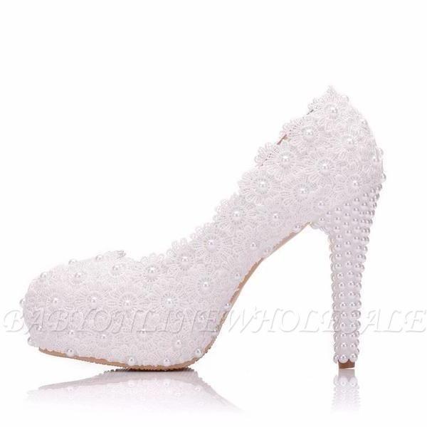 Женская с жемчугом через лодыжку туфли на высоком каблуке свадебные туфли