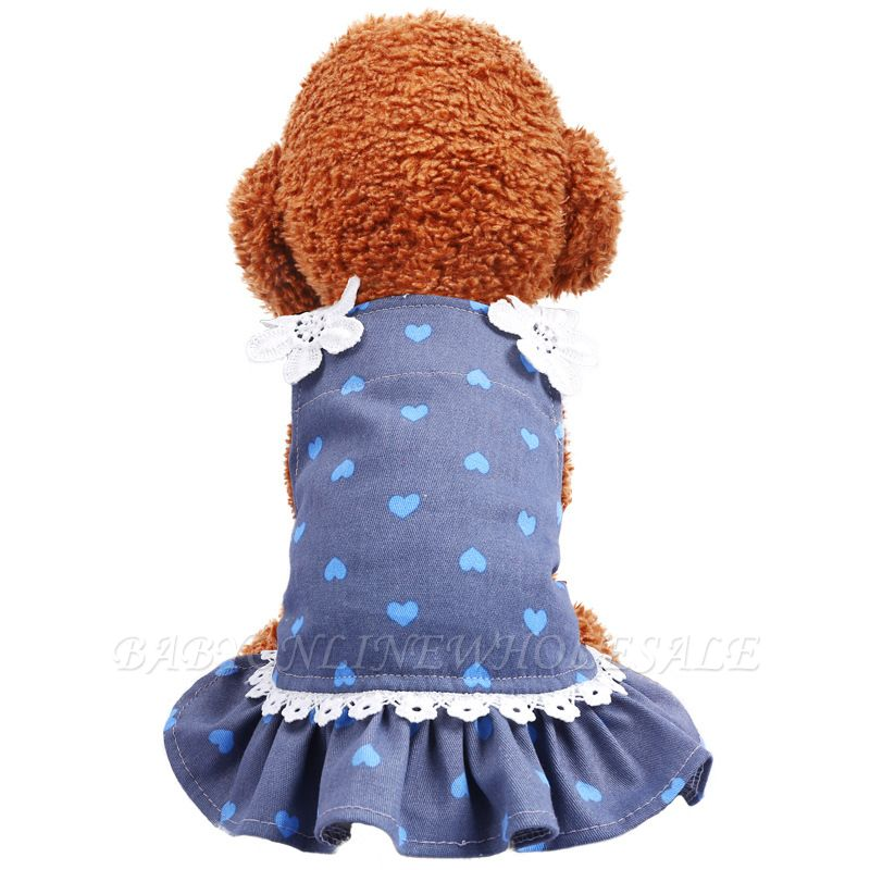 Cute Printed Lace Rufflles Puppy Skirts | Lovely Pets Cloth