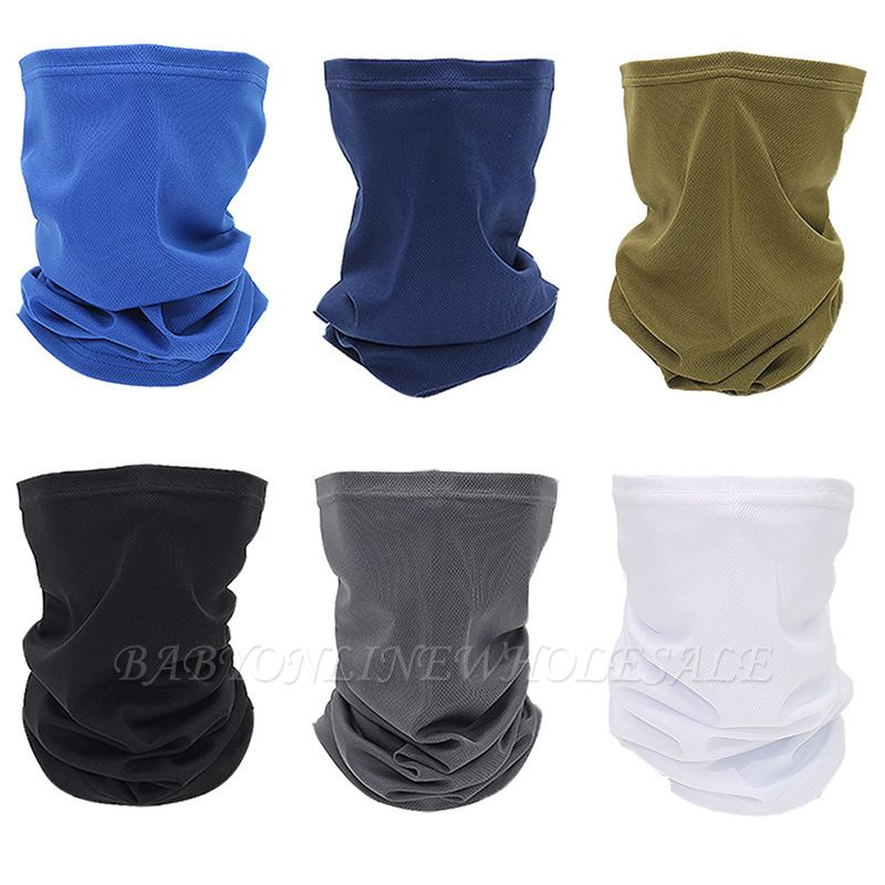 Sun UV Protection Neck Gaiter Lavable Réutilisable Magic Face Cover Dust Wind Bandana Balaclava