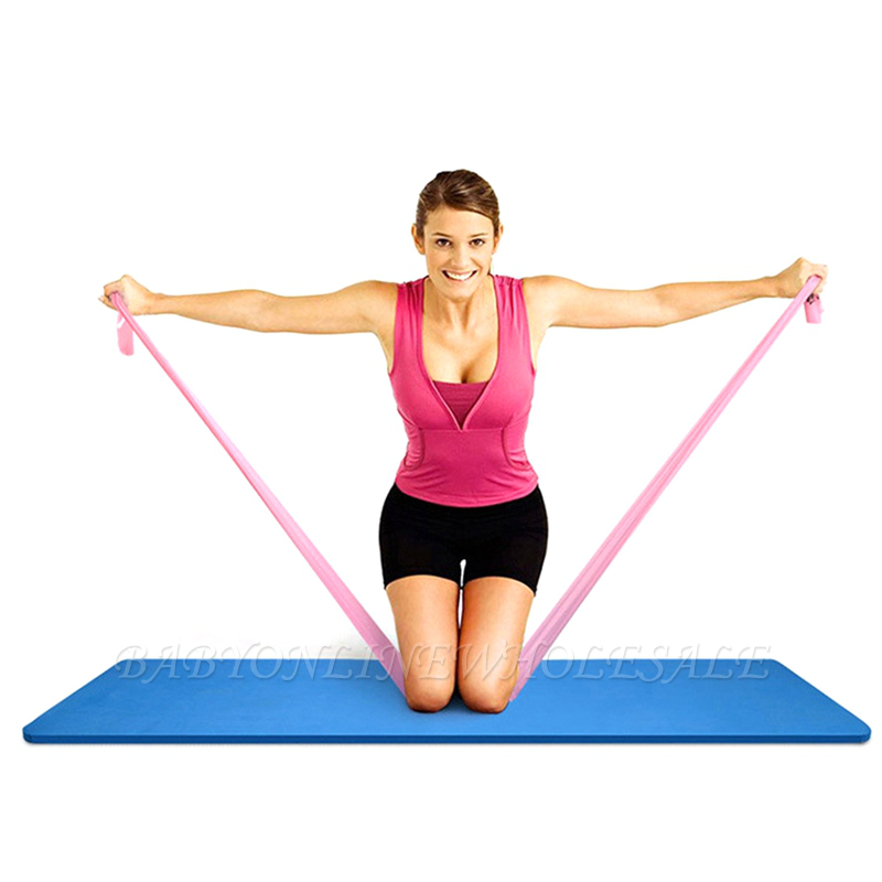 New Yoga Pilates Stretch Resistance Band Exercise Fitness Training Yoga Tension Belt Elastic Stretch Band