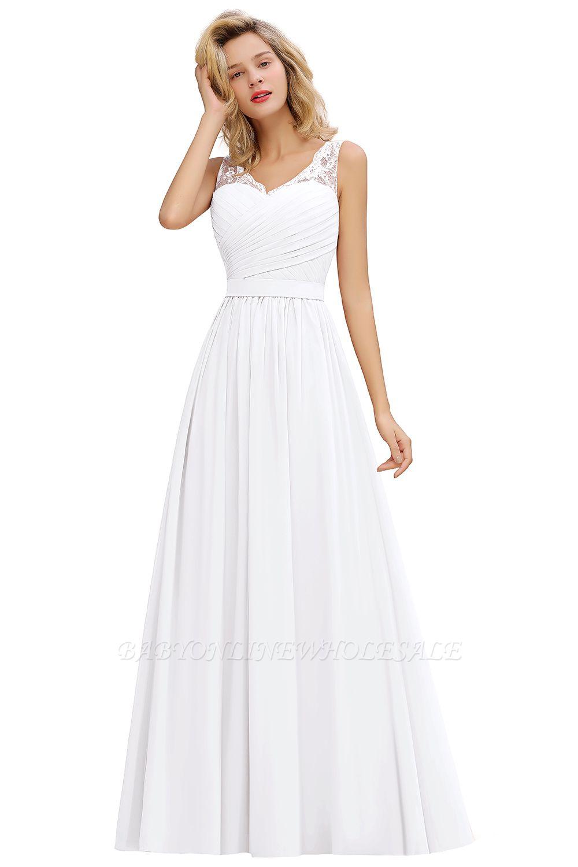 Belles robes de soirée longues col en v avec des plis doux | Robe Femme Sexy Sans Manches V-back Dusty Rose Pour Prom