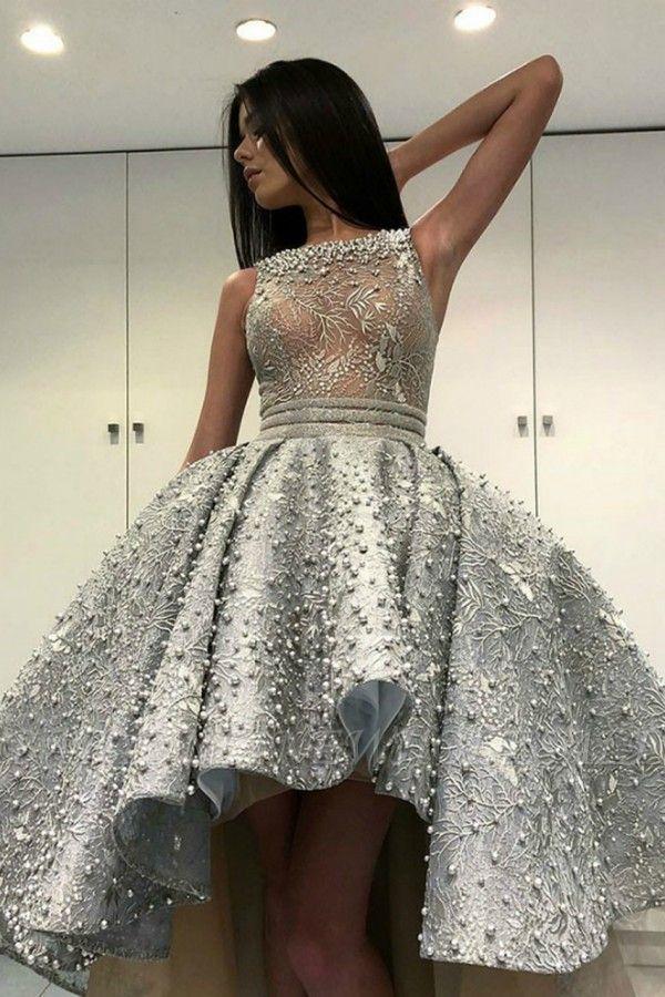 Gorgeous Sleeveless  Satin Short Hi-Lo Cocktail Dress Homecoming Dress