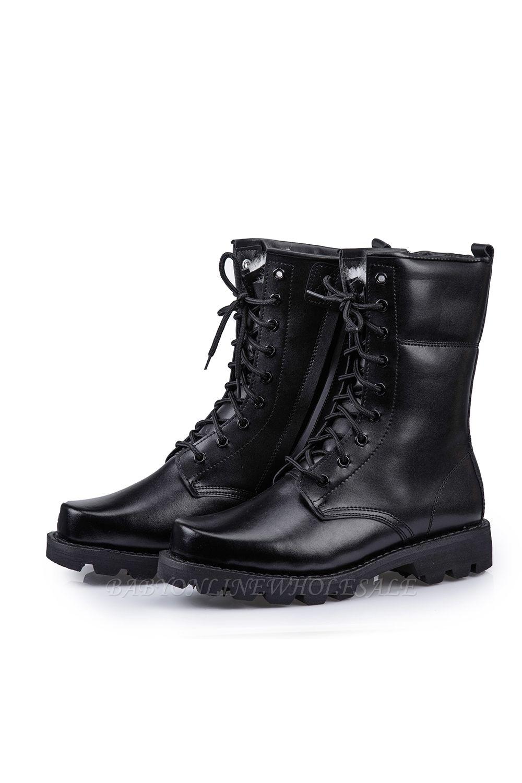 Мужские тактические военные ботинки Черные легкие ботинки для джунглей Рабочие ботинки Боковая молния
