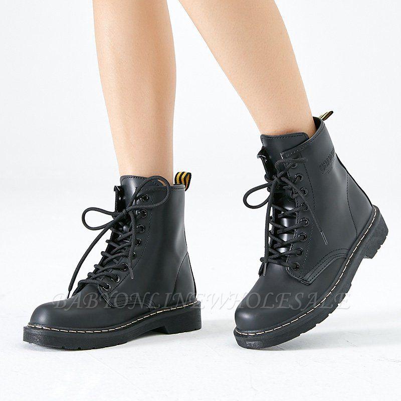 Talon épais bottes à lacets